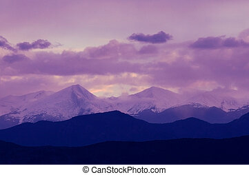 Purple Mountains - Purple mountains majesty. The Sangres at...