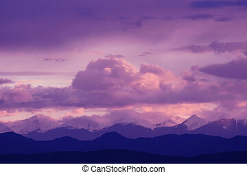 Purple Majesty - The setting sun\\\'s rays and a small bit...