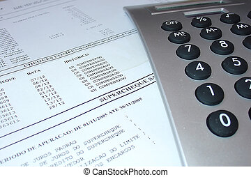 Bank statement with - Account checking