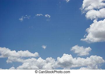 Clouds - Puffy White Clouds, Blue Sky