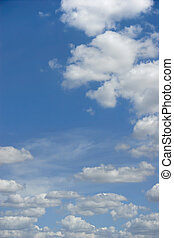 Clouds - Puffy White Clouds, Blue Sky
