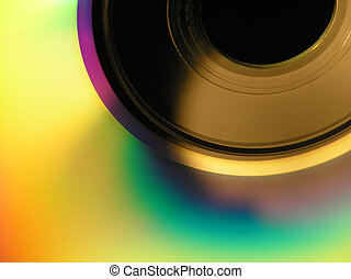 cd-rom - Close-up of a cd-rom with colourful abstract...