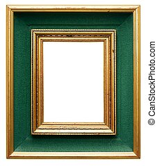Green Frame - Green frame with gilded borders