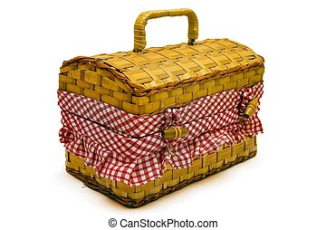 Picnic Basket - Isolated picnic basket