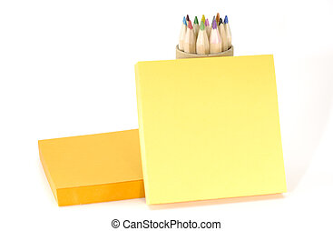 Memo - Photo of Memo Paper and Pencils