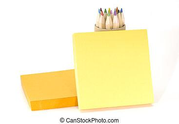 Memo - Photo of Memo Paper and Pencils