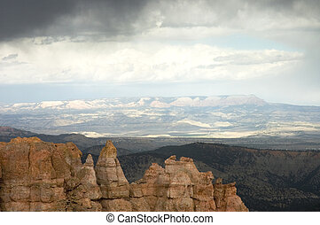 Touring Bryce Canyon 3 - Clouds and panoramic view over...