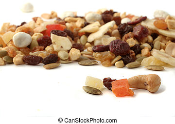 nuts and fruits - mixed nuts and dried fruits