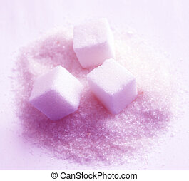 Sugar - sugar cubes and sugar