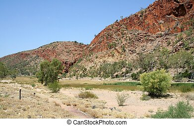Glen Helen Gorge - A dry Glen Helen Gorge in Central...