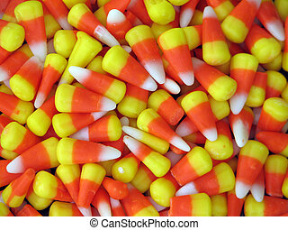 Candy Corn - Shot of a bunch of candy corn