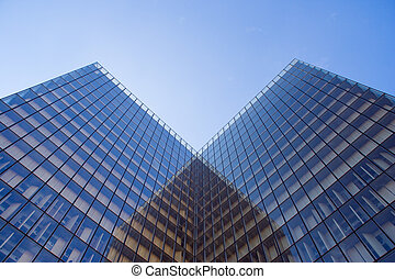 Modern architecture - Square-angle modern building...