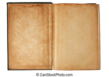 Title page - Inside cover of an old book with clipping path