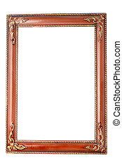 gold frame - brown frame with gold ornamental accents