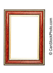 gold and brown frame - brown frame with gold trim