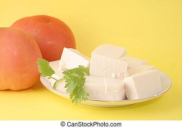 vegetarian tofu - vegetarian food tomato and tofu with a...