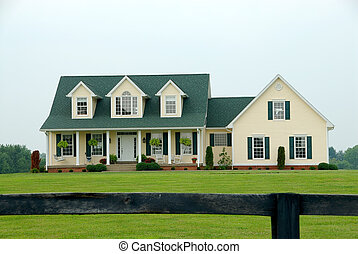 Farmhouse in the Country - A two story vinyl sided farmhouse...