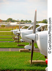 Small Plane Props - The propellers and noses of cessna...