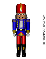 Nutcracker - 3D render of a nutcracker shaped like a...