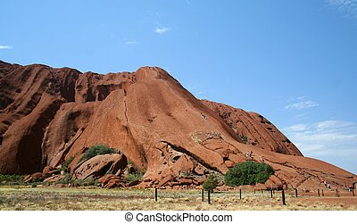 Ayers Rock - A side view of Ayers Rock in Central Australia