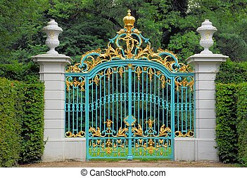 Golden Blue Gate - This 18th century golden and blue gate...