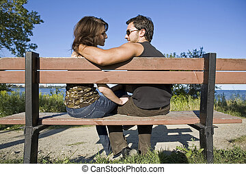 couple having fun during summer days