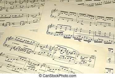 Sheet Music - Photo of Pages of Sheet Music