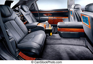 maybach - luxurious interrior of car