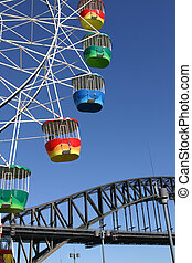 Sydney Lifestyle Entertainment - A colourful ferris wheel...