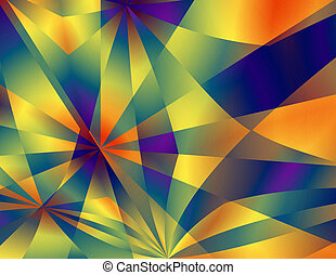 Abstract Background - Red-Yellow-Blue