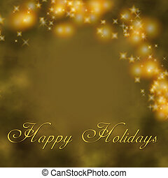 Gold Holiday Greet - Golden holiday greeting