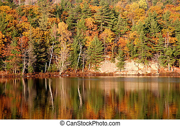 Autumn Lake reflection in Canada