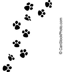 Paw prints - t shirt designs by me