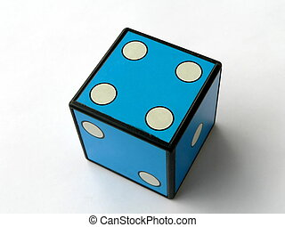 Four - Blue dice 4
