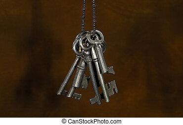 Vintage Keys - Photo of Vintage Skeleton Keys