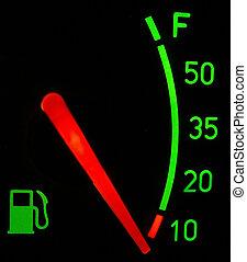 No fuel - Empty fuel tank