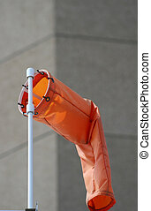 Windsock at airport showing little wind