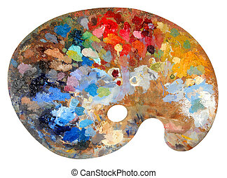 Artists Palette - Artists palette with multiple colors...