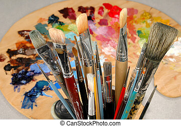 Artist\'s Brushes and