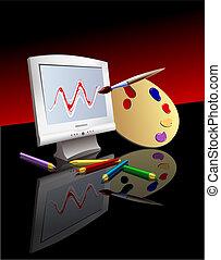 Graphic Arts - Computer Graphics Symbols Digital...