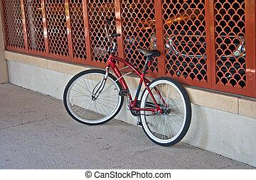 bike at parking garage