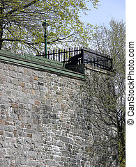 Battlements - The walls of historic Quebec City, complete...