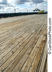 Dufferin Terrace - The boardwalk of the Dufferin Terrace,...