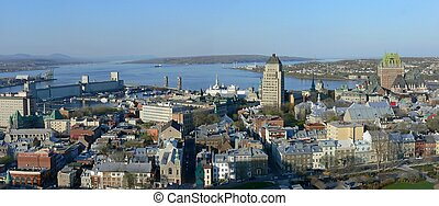 Quebec City - Panoramic view of historic Quebec City.
