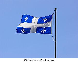 Quebec Flag - The Fleur-de-Lys flag of Quebec.