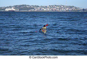 kayak in puget sound