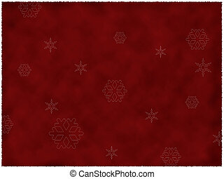 Burnt red paper with snow flakes - Illustration of burned...