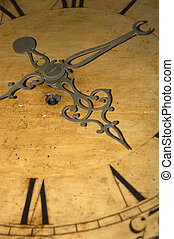 Antique Clock Abstract - Abstract photo of an English...