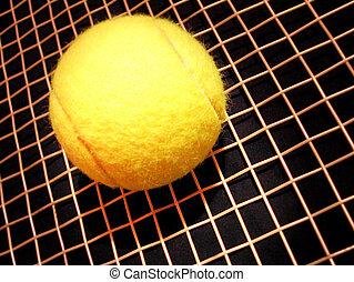 raqueta, tenis, Pelota