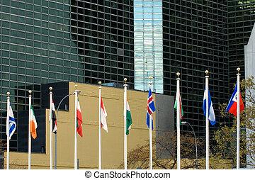 UN in session - UN headquarters in Manhattan, NYC